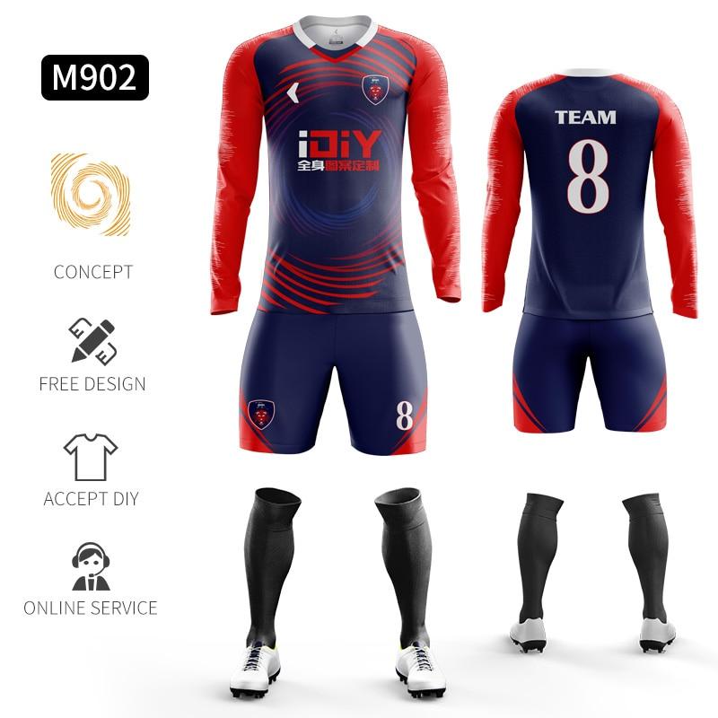 Custom Football Jerseys Full Sublimation Printing Soccer Jerseys Club Team Football Training Uniform Suit Soccer Uniform For Men 8