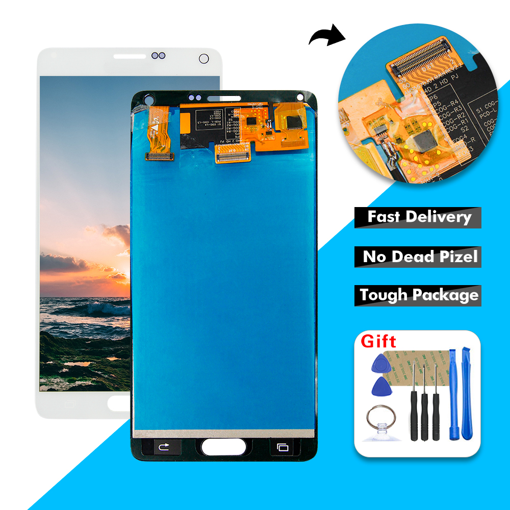 Super AMOLED <font><b>LCD</b></font> Display Touchscreen Digitizer Glas Montage Für <font><b>Samsung</b></font> <font><b>Galaxy</b></font> <font><b>Note</b></font> <font><b>4</b></font> SM-N910A SM-N910V N910 N910A <font><b>LCD</b></font> image