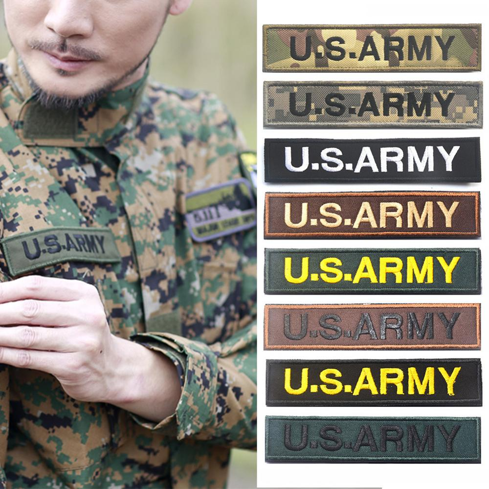 Military Morale Patch, Multicam US Army Patches USA for Molle Visor Panel U.S.A and U.S Army TACTICAL PATCH BADGE(China)