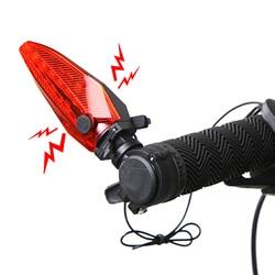 Światła rowerowe alarm antywłamaniowy i róg wszystko w jednym wielofunkcyjny kierownica rowerowa światła lampy przednie światła LED dzwon H0091
