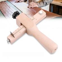 Einstellbare Leder Strap Cutter Leathercraft Streifen Gürtel DIY Hand Schneiden Holz Streifen Cutter mit 5 Scharfe Klingen Leder Werkzeuge