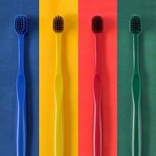 2 adet ucuz diş fırçası Ultra ince süper yumuşak kıl degrade renk diş fırçası tutucu derin temizleme fırçası Oral bakım araçları