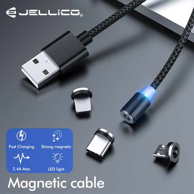 Magnetic USB Cable 3 in <font><b>1</b></font> Phone Cables Fast Charging for Samsung Huawei Xiaomi USB Type C Cable Micro USB Cable Charger USB Cord image