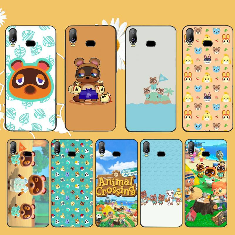 HPCHCJHM Animal Crossing New Horizons Black TPU Soft Rubber Phone Cover For Samsung A10 A20 A30 A40 A50 A70 A71 A51 A6 A8 2018 image