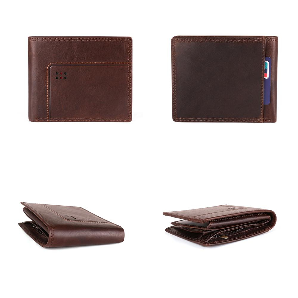 H2f1006b6139d46eeb77942e9084ab42ap - GENODERN Cow Leather Men Wallets with Coin Pocket Vintage Male Purse Function Brown Genuine Leather Men Wallet with Card Holders