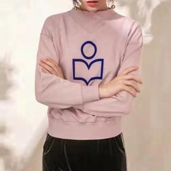 Vrouwen Driehoek O-hals Plus Fluwelen Sweatshirt Contrast Kleur Logo Massaal Print Lange Mouwen Vrouwelijke Sweater Trui Tops