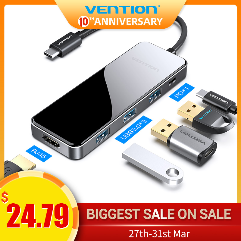 Vention USB Type C HUB To HDMI Multi USB 3.0 PD Aapter For MacBook Pro Air Dock 3 Por Huawei Mate P10 Pro Samsung S9 USB C HUB