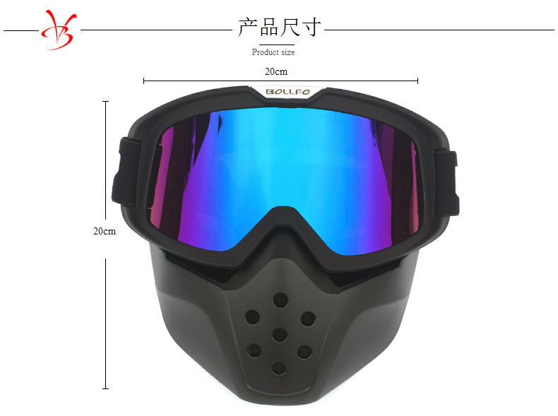 Bollfo New Style Motorcycle Off-road Goggles Retro Harley Mask Goggles Tactical Eye-protection Goggles Bicycle Glass