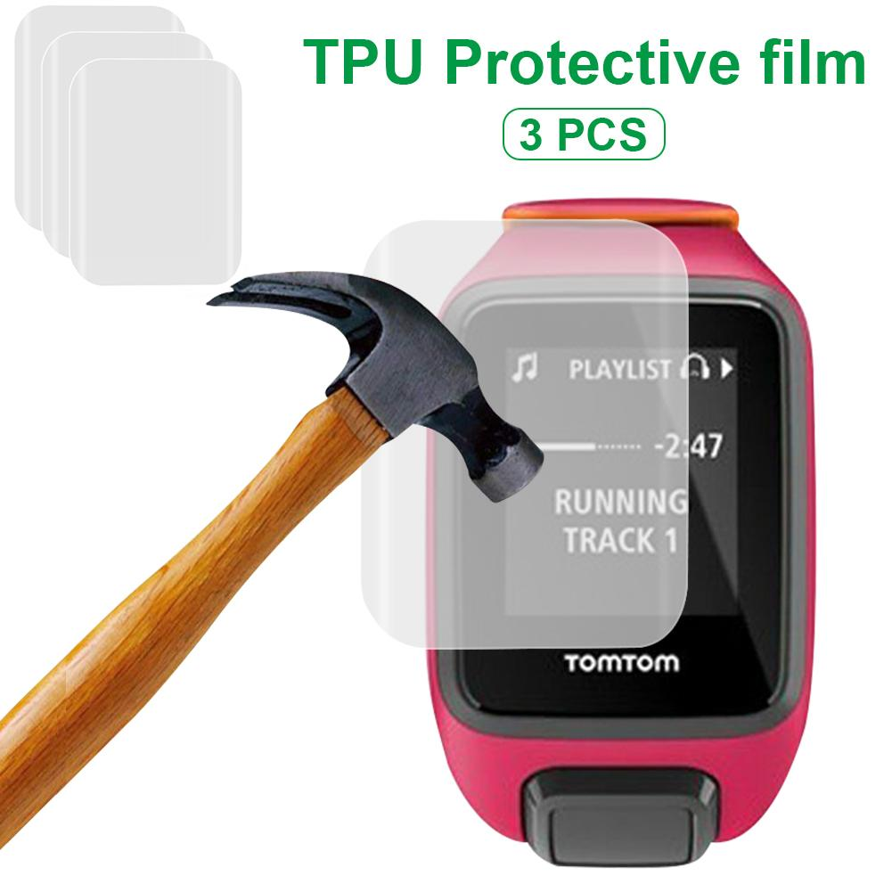 3 Pcs HD Scratch-proof Anti-drop Explosion-proof Membrane Glass Screen Film Protector For TomTom 2 3 Runner Spark Smart Watch