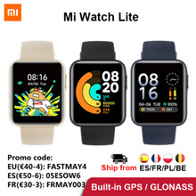Versione globale Xiaomi Mi Watch Lite GPS Fitness Tracker 24H cardiofrequenzimetro braccialetto sportivo 1.4 pollici Bluetooth 5.0 Smartwatch