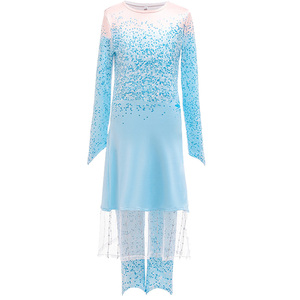 Image 4 - Snow Queen 2 NEW Elsa Anna Dress for Girls Elsa Halloween Fancy Clothes Children Party Cosplay Princess Costume Accessories Wig