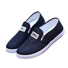 Spring Autumn Men Shoes Canvas Flat Breathable Fashion Sneakers Student Men Shoe #6533