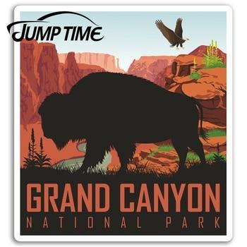 Jump Time   Grand Canyon Vinyl Stickers Arizona USA Sticker Laptop Luggage Waterproof Car Decal Window Bumper Auto Accessories