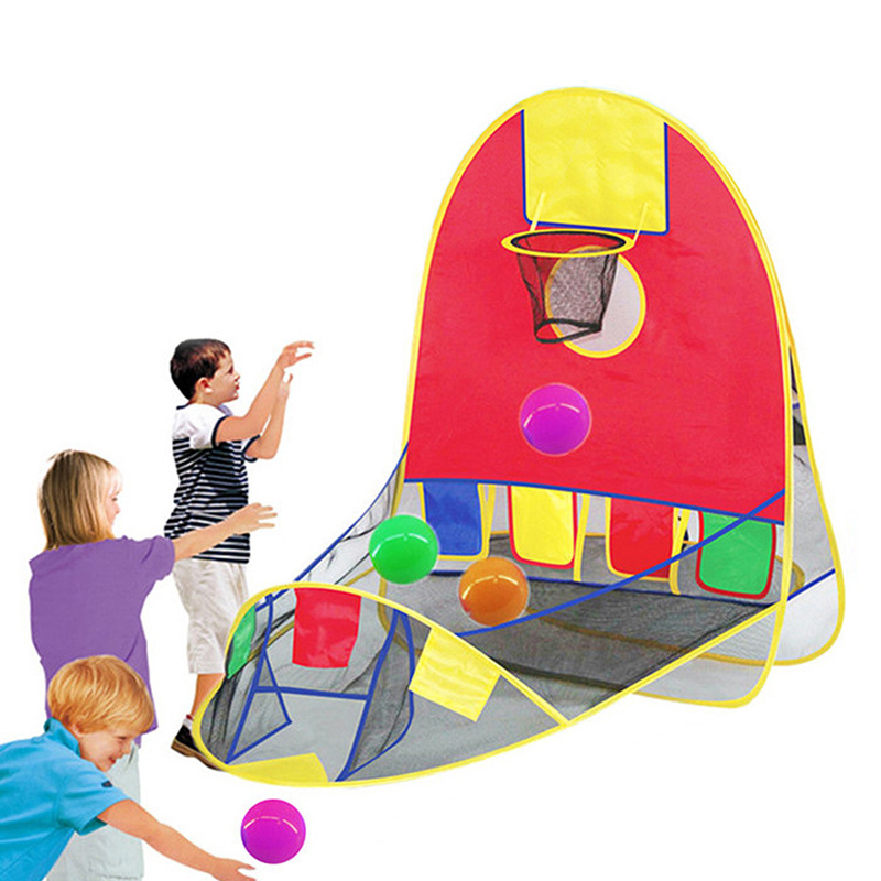 Foldable Children's Tent Kids Tent Ball Pool Basketball Basket Tent Scoring Toy Beach Lawn Tent Dry Pool Kid Outdoor Indoor Toys