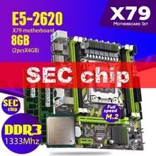 Atermiter X79G X79 Bo Mạch Chủ Bộ LGA2011 Sản Phẩm Xeon E5 2620 CPU 2X4GB = 8GB bộ Nhớ DDR3 RAM 1333Mhz PC3 10600R RAM
