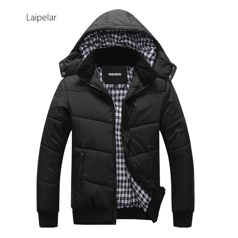 2020 Fashion Winter Jacket Men Warm Coat Casual Parka Thickening Simple Hem Practical Waterproof Zipper Coat Men For Winter