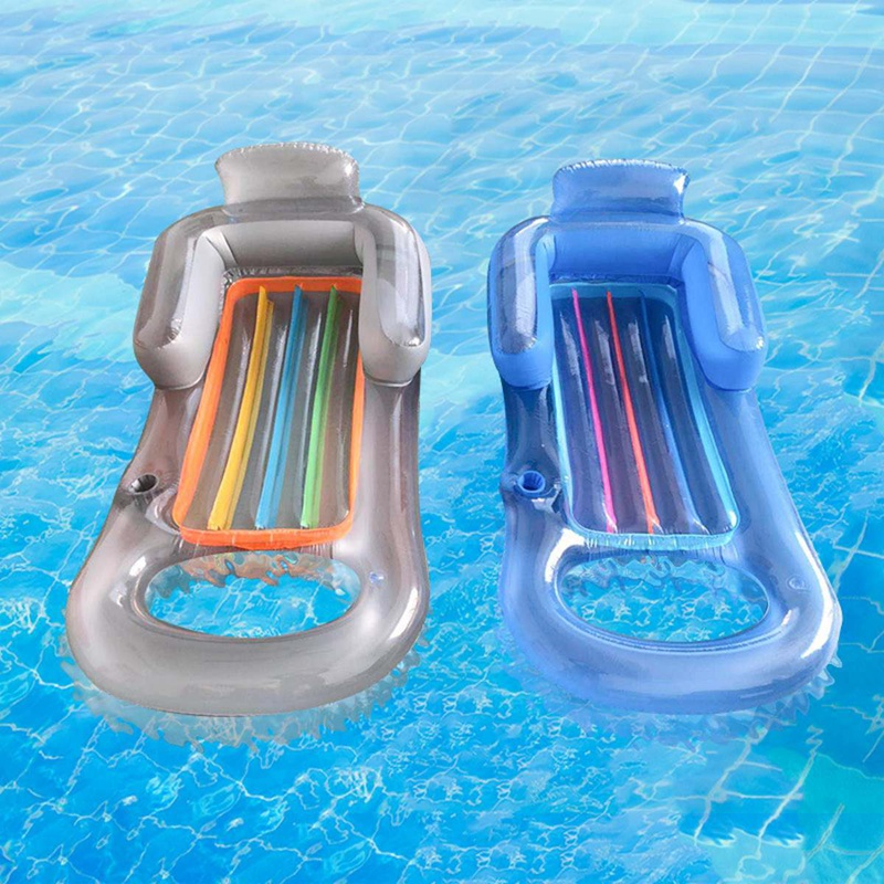 Inflatable Float Row Beach Swimming Air Mattress Pool Floating Lounge Sleeping Bed For Water Sport Party Pool Accessories