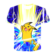 Pikachu Anime 3D T-shirt Boys Girl Cartoon Tops Cute Baby Pokemon Kids Tees 2021 Summer Clothes Fashion big brother Children