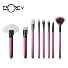ESOREM 8pcs Makeup Brushes Set Professional Dense Fan Cosmetic Brush Flap Top Loose Powder Stippling Pincel Maquiagem T-08-067