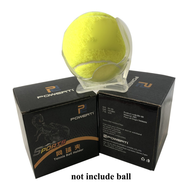 1Pc Professional Tennis Ball Clip Tennis Ball Holder Waist Clip Transparent Holds Training Equipment Tennis Ball Accessories