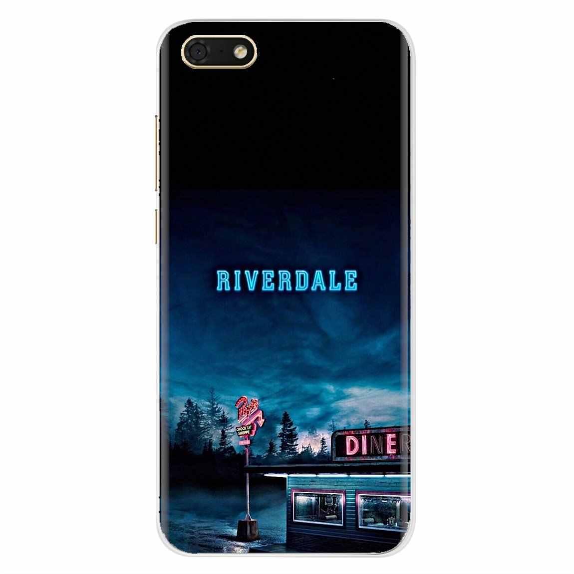 Iphone 11 pro 4 4 s 5 5 s se 5c 6 6 s 7 8 x xr xs plus ipod touch 용 미국 tv 리버 데일 로고 포스터 실리콘 케이스