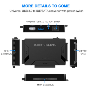 """Image 4 - USB 3.0 to SATA IDE ATA Data Adapter 3 in 1 for PC Laptop 2.5"""" 3.5"""" HDD Hard Disk Driver With Power"""