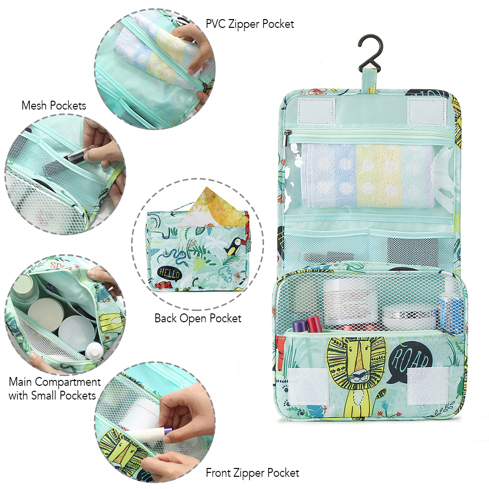 Hanging Toiletry Bag Cosmetic Wash Bag Toiletry Organizer For Hotel Home Bathroom Airplane Business Travel Pvc Zipper Durable