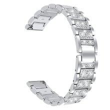 Сменный Браслет из нержавеющей стали с бриллиантами металлический