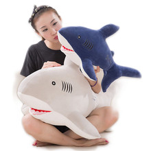 New Style Shark Plush Toys Big Fish Cloth Doll Whale Soft Stuffed Plush Animals Doll Children Birthday Gifts женская рубашка big pink cloth doll d15ats007 2015