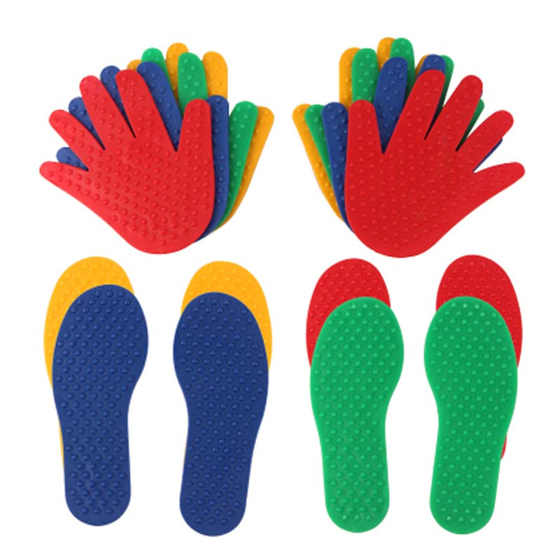 Kids Fun Game Hand Feet Footprints  Crawling Mat Sensory Integration Kindergarten Outdoor Activities Tactile Toys