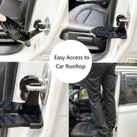 Carro dobrável veículo dobrável escada pé pegs fácil acesso ao telhado do carro com martelo de segurança para o carro|Barras e estribos|   -