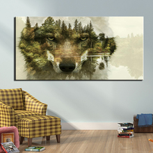 Canvas Wall Art Painting Abstract wolf Art Print Poster Wall Decoration Home Decor 1 Panel Picture wall art wolf howl print canvas paintings