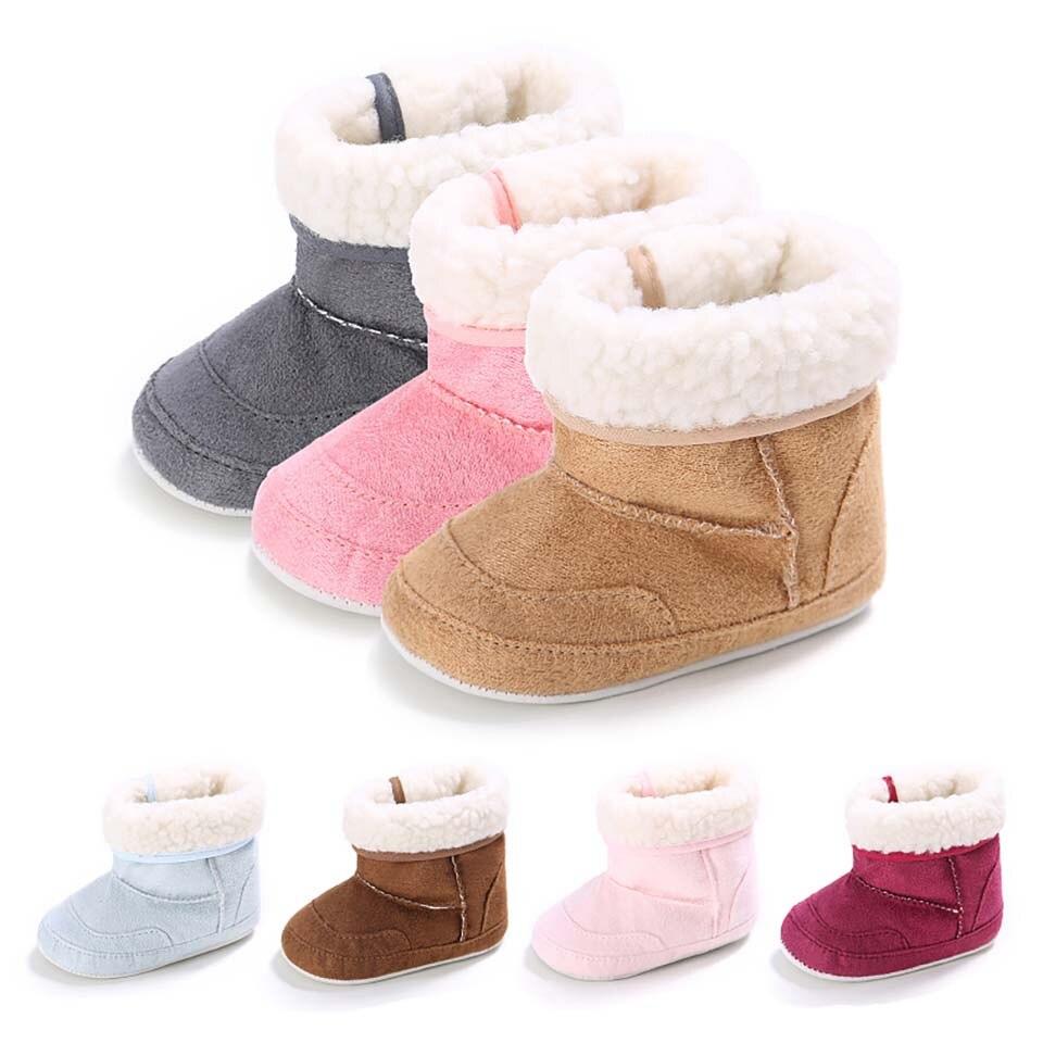 New Baby Girls Shoes Fashion Boy Baby Booties Winter Warm Shoes Wool Infant Toddler Booties Newborn First Walker Bebe Prewalker
