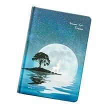1 шт полноцветная ручная роспись в твердом переплете блокнот в летнюю ночь сон светящийся креативный олень ручная запись этот дневник
