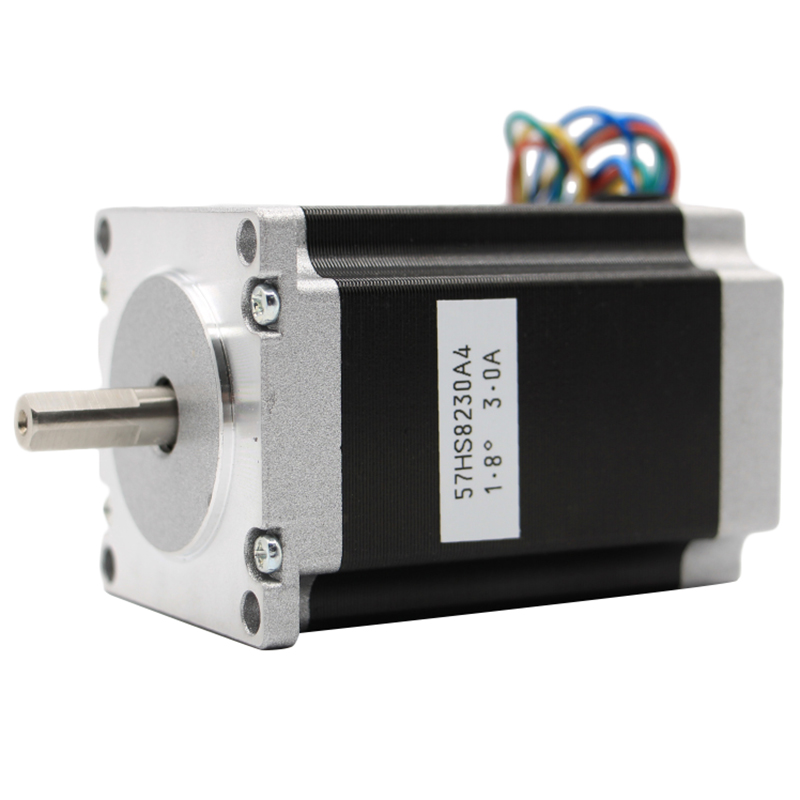 Nema 23 Cnc Stepper Motor 57x82Mm 3A 2.2N.M D= 6.35Mm 315Oz-In Nema23 Cnc Router Engraving Milling Machine 3D Printer