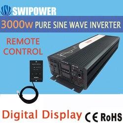 Zuivere sinus omvormer 3000W nieuwe DC 12V 24V 48V naar 110V 220V auto zonne-energie omvormer