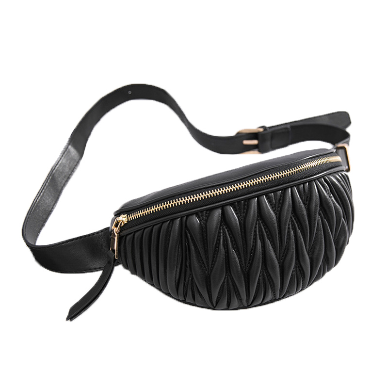 Stripe Women's Belt Bag High Quality Fanny Pack Soft Leather Waist Bags Female Luxury Chest Bag Shoulder Crossbody Banana Bags