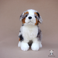 Cute stuffed animals toy real life plush toys soft holiday gifts australian shepherd dogs doll