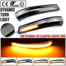 עבור יונדאי Elantra GT Avante MK5 MD UD 11 15 Veloster i30 GD LED דינמי צד מראה מחוון נצנץ סדרתית אור