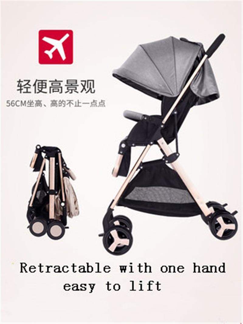 Baby stroller ultra light portable sitting reclining folding simple high landscape children baby bb push umbrella
