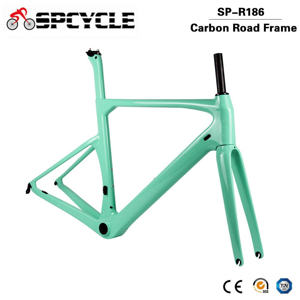 Spcycle 700*28C Aero Full Carbon Road Bike Frame BB386 Racing Bicycle Carbon Frameset UD Glossy/Matte Size 50/53/56/59cm