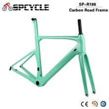 Spcycle 700*28C Aero Full Carbon Road Bike Frame BB386 Racing Bicycle Carbon Frameset UD Glossy/Matte Size 50/53/56/59cm стоимость
