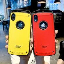 נגד לדפוק מקרה עבור iPhone 12 מיני 11 פרו מקסימום X XR XS 7 8 בתוספת עמיד הלם חזרה פגז כיסוי קשיח מחשב סיליקון היברידי שריון Coque