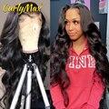 CurlyMax волнистые человеческие волосы на фронте с кружевом, бразильские человеческие волосы, парик Remy Bob 4X4, парики на шнурках для черных женщин