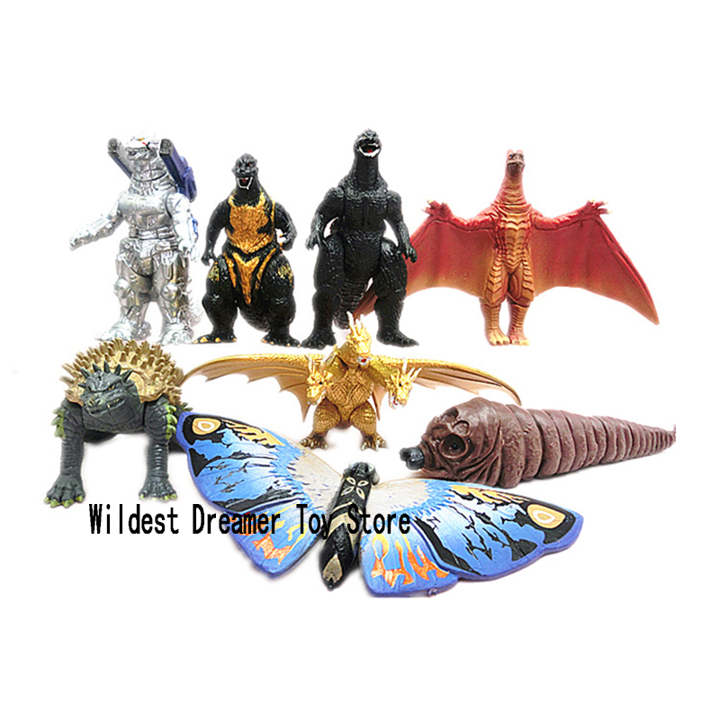 8pcs/lot Godzilla Figures Gojira King Of The Monsters Toy Action Figure Movable Doll Model Kid Kind Anime Movie 8.5cm