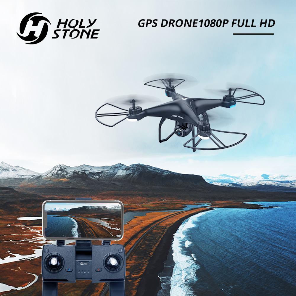 Holy Stone HS120D GPS RC Drone 150M WIFI FPV 1080p HD Camera Voice Recording Tapfly Long Range With Follow Me RC Quadcopter 300M