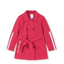 Тренч для девочек, куртка для больших детей, длинная Весенняя коллекция года, новая детская одежда, модная ветрозащитная куртка для девочек