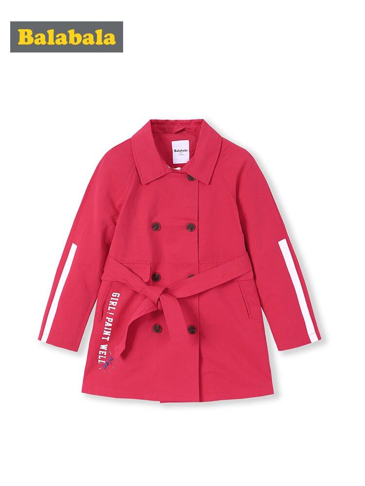 Girls   trench   jacket big children long spring 2019 new children's clothing fashion girls windbreak jacket