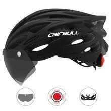 Cairbull Сверхлегкий велосипедный шлем со съемным козырьком, очки для велоспорта, фонарь межгрольный литой горный велосипед Горный шоссейный велосипед MTB шлемы 230 г