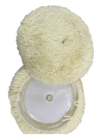 180mm Self-Adhesive Polishing Wool Ball 7-Inch Wool Wheel Polishing With Sheepskin Ball Yarn Polishing Round Customizable